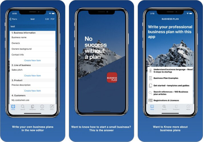 бизнес-план для стартапов Приложение для iPhone и iPad Скриншот