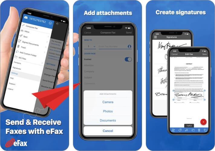 Приложение eFax для iPhone и iPad Скриншот