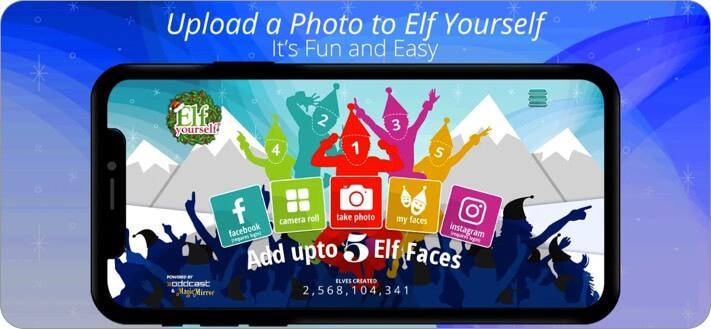 Скриншот приложения ElfYourself для iPhone и iPad
