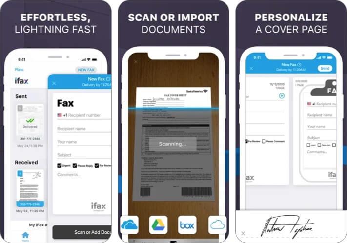 Лучшее приложение для факсов iFax для iPhone и iPad Скриншот