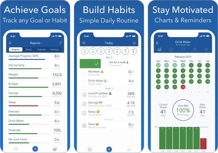 трекер достижений цели приложение для iPhone и iPad Скриншот