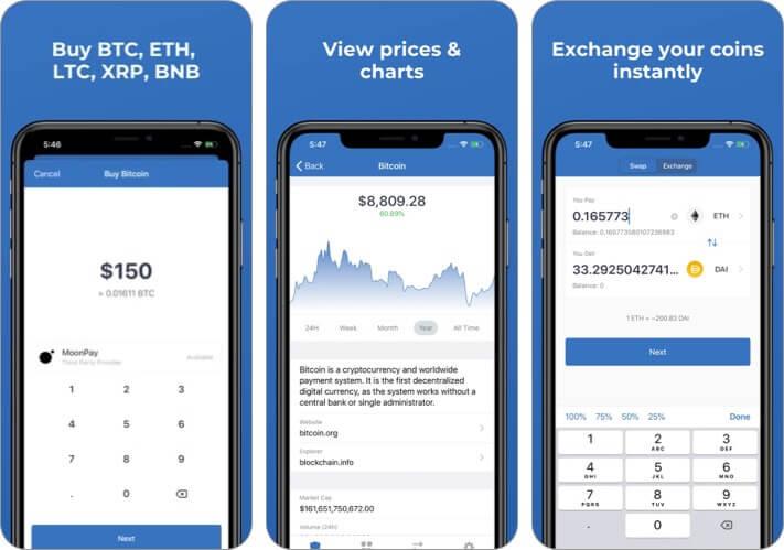 Доверие: Скриншот приложения для iPhone и iPad Crypto and Bitcoin Wallet