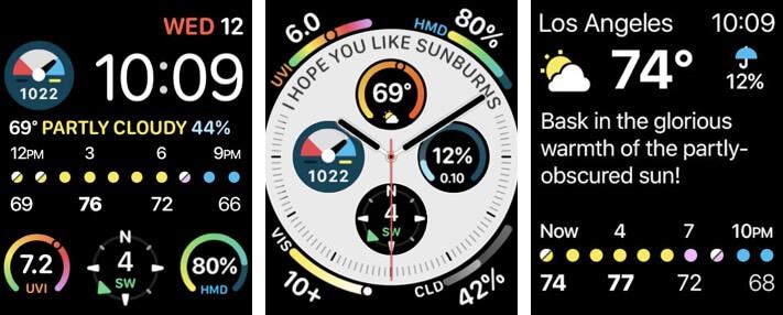 Скриншот приложения CARROT Weather для Apple Watch