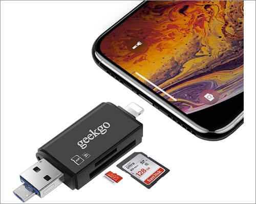 Geekgo Lightning to SD Card Camera Reader для iPhone и iPad