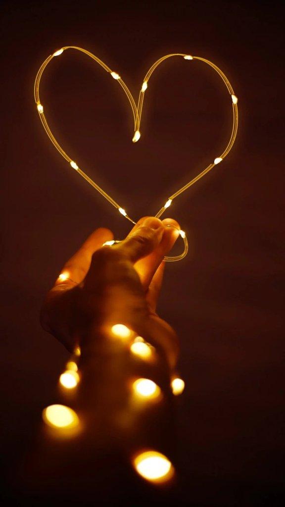 Пусть всегда будет свет любви День святого Валентина iPhone Обои