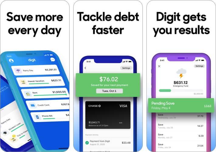 Скриншот приложения Digit Save Money для iPhone и iPad