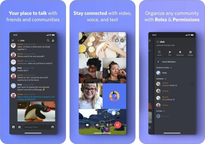 Приложение Discord для iPhone WhatsApp Альтернативный снимок экрана