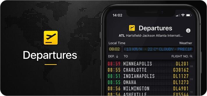 Скриншот приложения Flight Board для iPhone и iPad