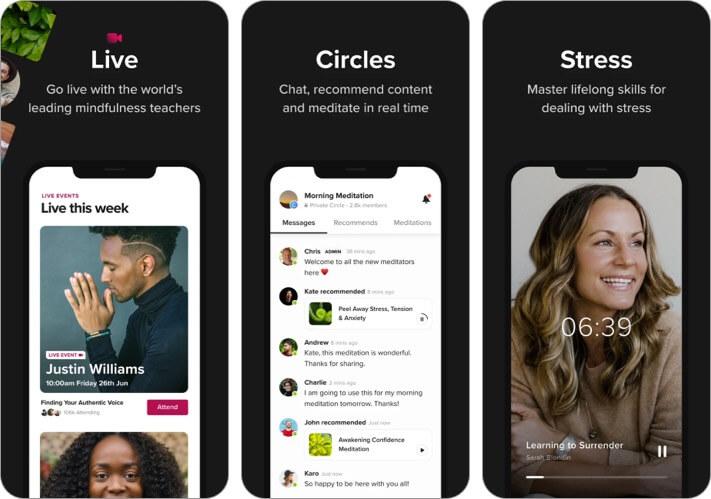 Скриншот приложения Insight Timer для iPhone и iPad