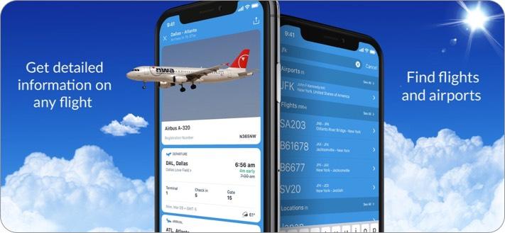 Самолеты Live Flight Tracking Скриншот приложения для iPhone и iPad