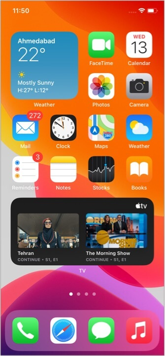 Разблокируйте iPhone и будьте на главном экране