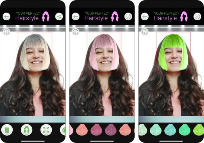 приложение для создания ваших идеальных причесок для iPhone и iPad, скриншот
