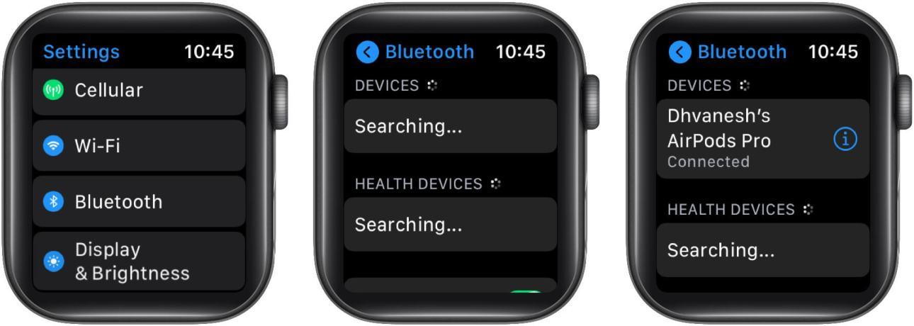 Подключите свои AirPods к Apple Watch