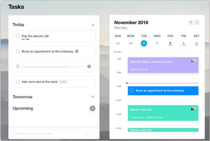 Any.Do лучшее приложение-календарь для Mac