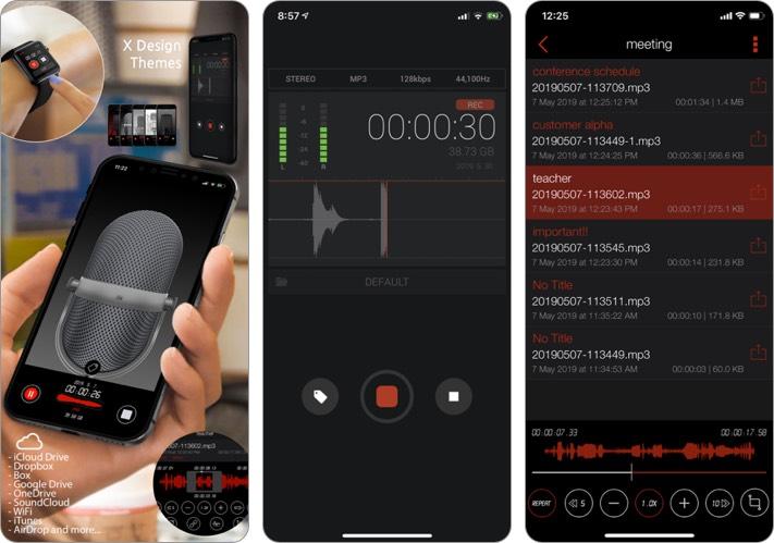Скриншот приложения Awesome Voice Recorder для iPhone и iPad