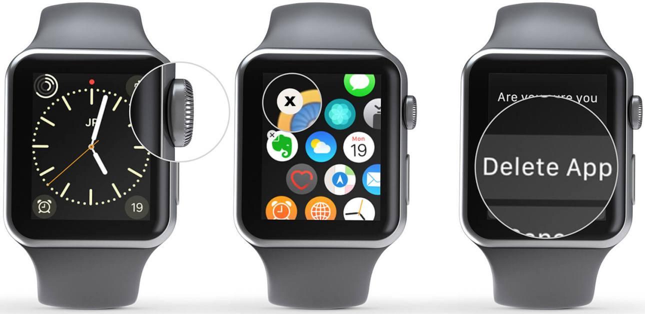 Удалить приложения с Apple Watch