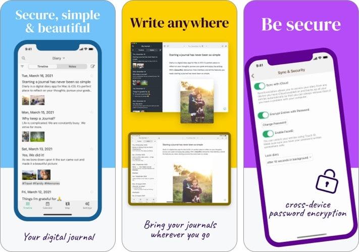 Лучшее приложение для журналов Diarly для iPhone и iPad
