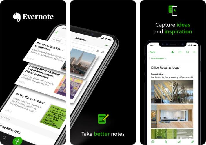 Скриншот приложения Evernote Video Recording для iPhone