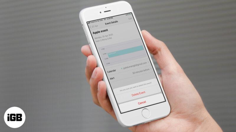 Как удалить события календаря на iPhone или iPad