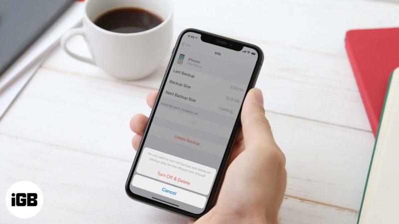 Как удалить резервную копию iCloud с iPhone или iPad