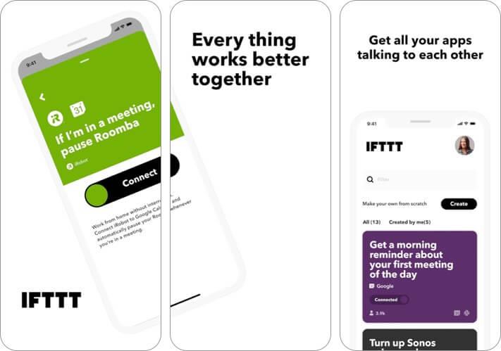 Скриншот приложения для ведения блога IFTTT
