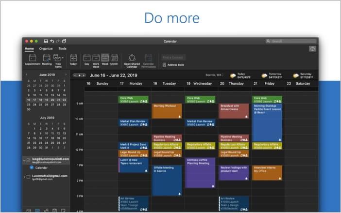 Лучшее приложение-календарь Microsoft Outlook для Mac