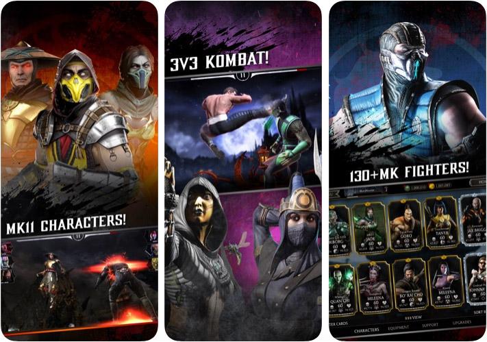 Снимок экрана приложения Mortal Kombat для iPhone и iPad