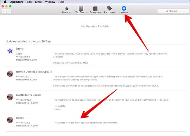 Обновите iTunes с помощью Mac App Store