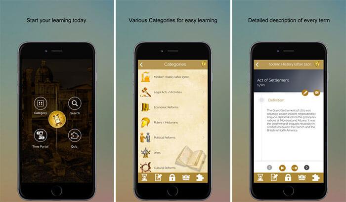 Всемирная история SMART Dictionary Скриншот приложения для iPhone и iPad