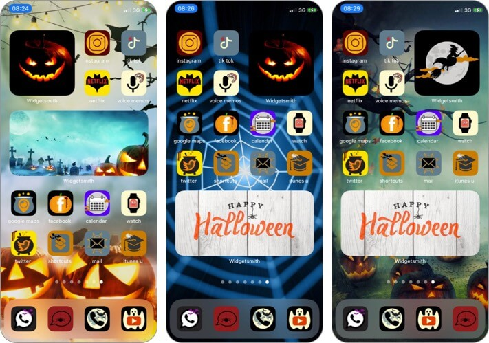 Набор иконок приложений Хэллоуина для iPhone и iPad
