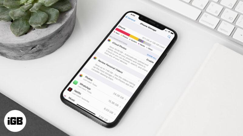 Как удалить документы и данные на iPhone