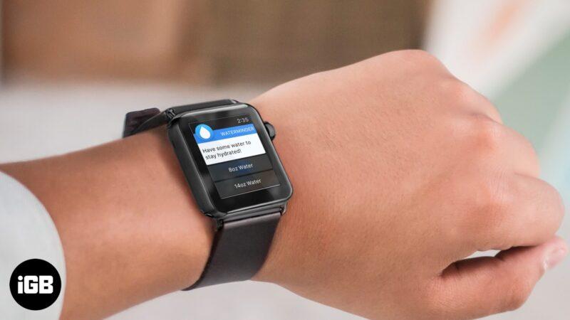 Напоминания о воде для Apple Watch