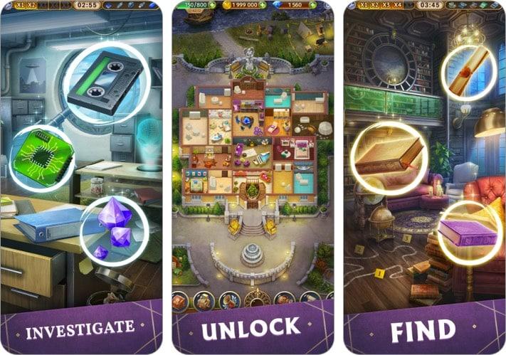 Тайная усадьба Скрытые объекты iPhone и iPad скриншот игры