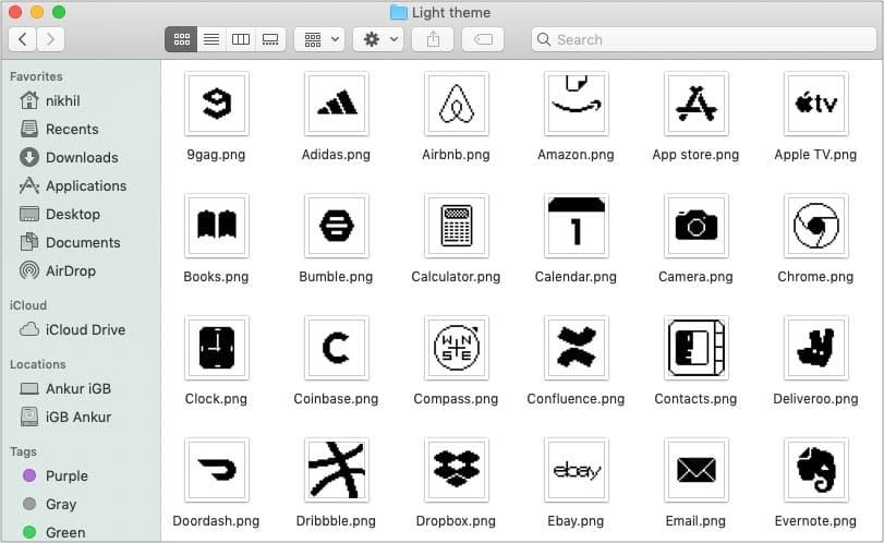 Легкие значки приложений Old School iOS 14