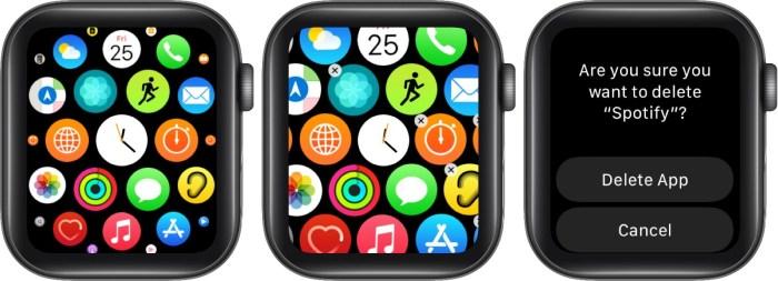 удалите неиспользуемые приложения с Apple Watch, чтобы освободить место