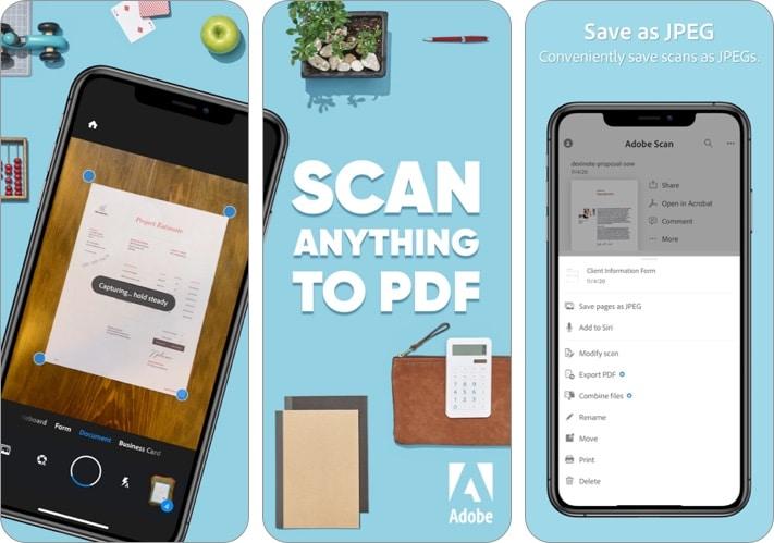 Скриншот приложения Adobe Scan - Mobile PDF Scanner для iPhone и iPad