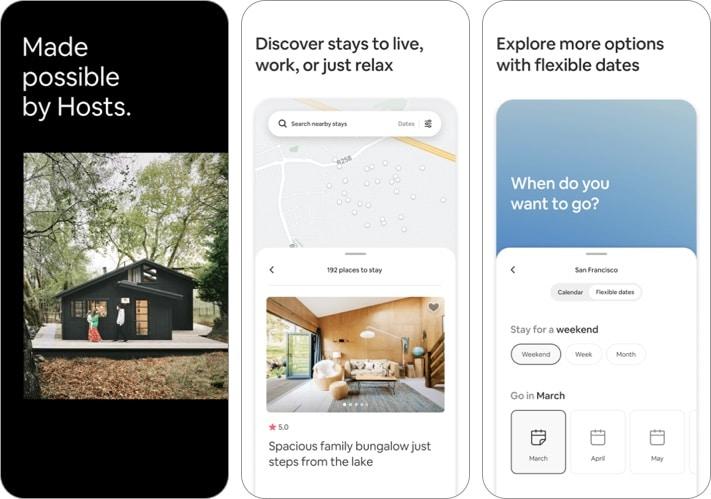 Скриншот приложения Airbnb для iPhone и iPad