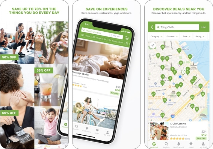 Скриншот приложения Groupon для iPhone и iPad