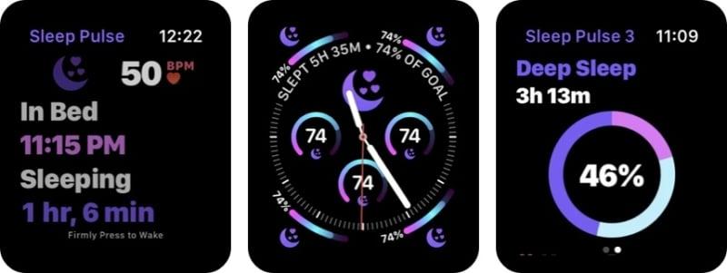 Отслеживание сна - приложение Sleep Pulse 3 для Apple Watch
