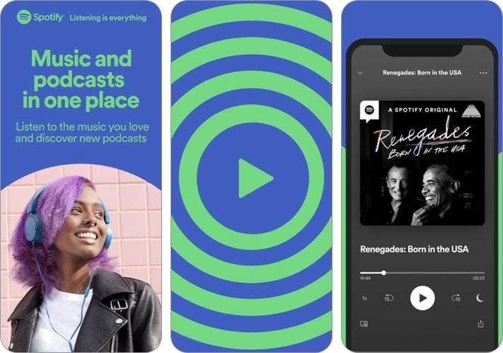 Spotify - Откройте для себя новую музыку, снимок экрана приложения для iPhone и iPad