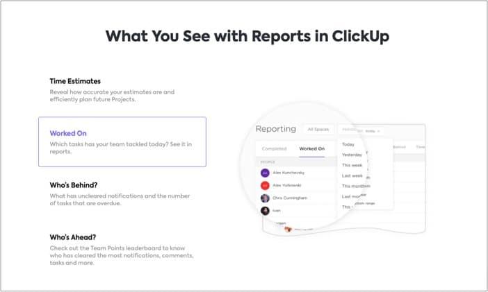 Управление командой в приложении ClickUp для iPhone