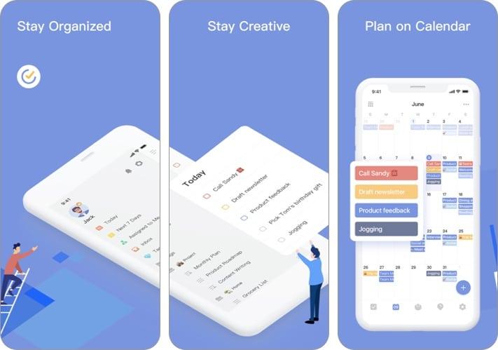 Скриншот приложения TickTick для iPhone и iPad