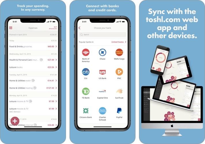 Toshl Finance - скриншот лучшего бюджетного приложения для iPhone и iPad