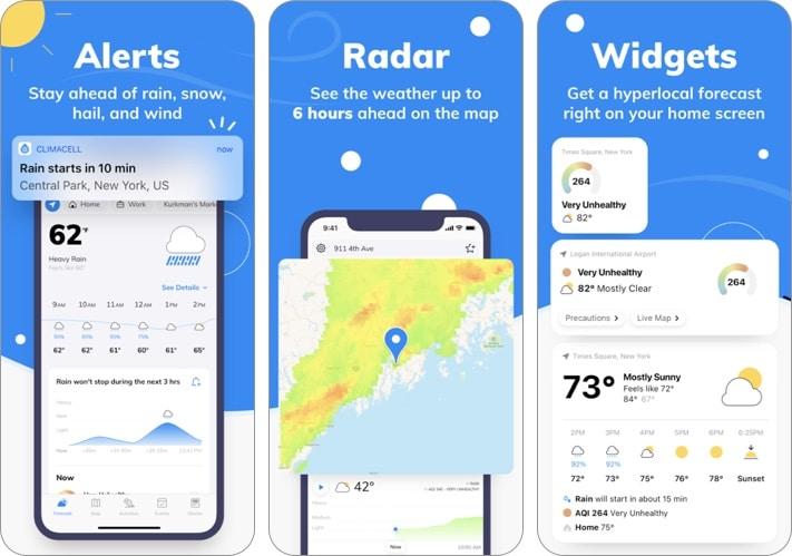 Скриншот приложения Weather by Tomorrow для iPhone и iPad