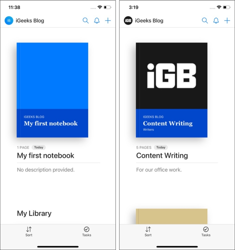 Блокноты в приложении Hypernotes для iOS