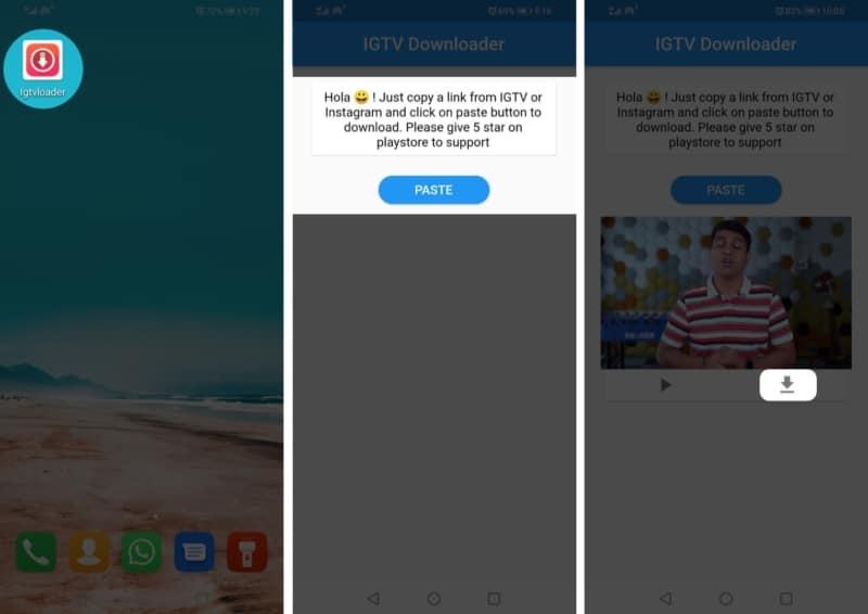 Как скачать видео IGTV на устройства Android
