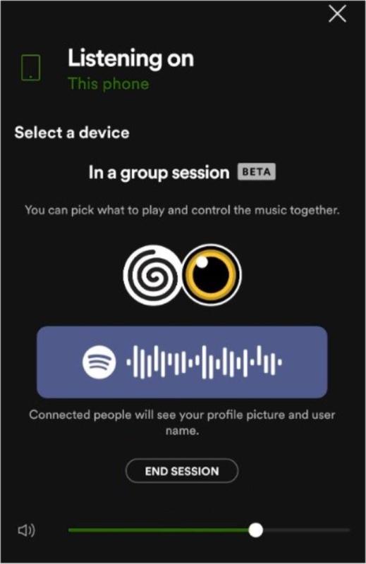 Как выйти или завершить групповую сессию Spotify