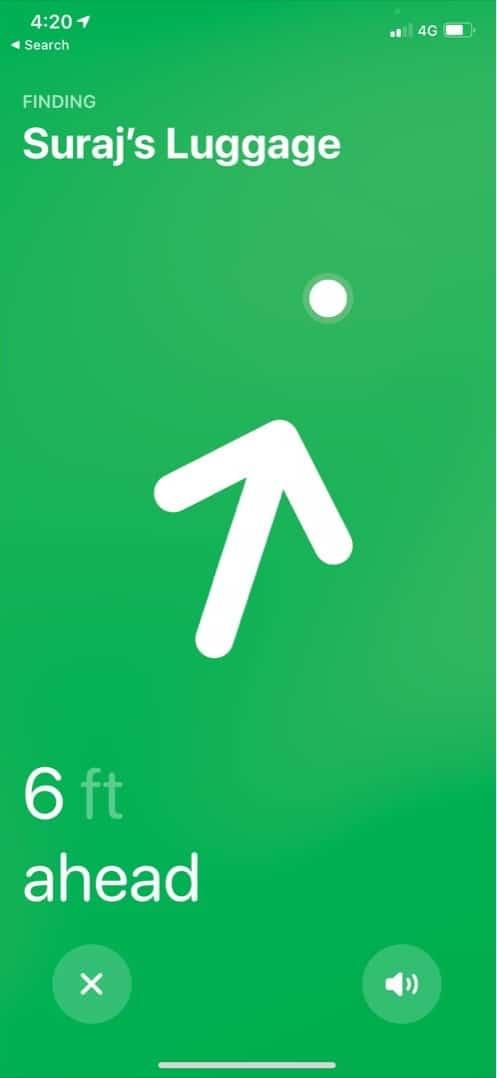 Коснитесь имени AirTag, чтобы включить скрытый режим разработчика.