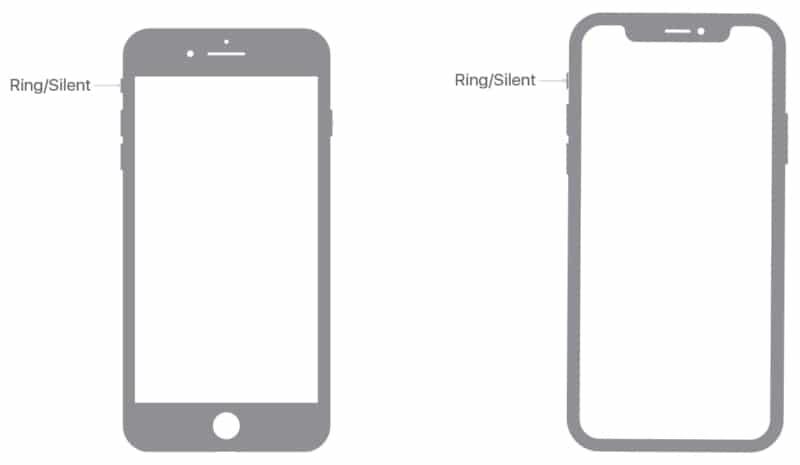 Размещение кольца или бесшумного переключателя на iPhone