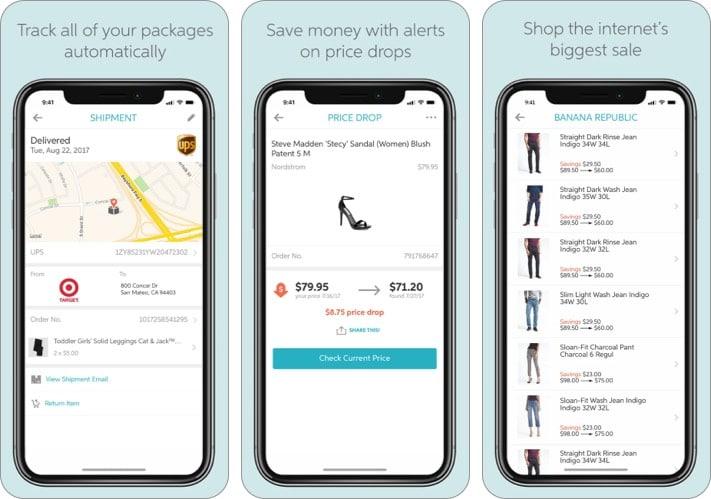Снимок экрана приложения iPhone для отслеживания подарков Slice